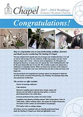 Darling St Chapel Wedding Packages. Click to view the current brochure.