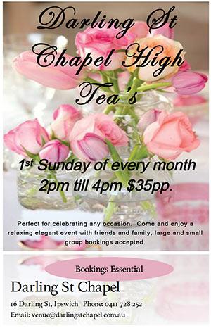 Darling St Chapel High Tea's